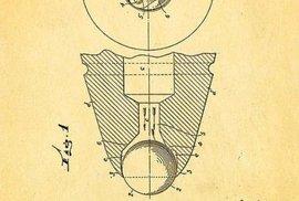 Takto vypadal detail návrhu kuličkového pera. Jeho autorem je právě Bíró.