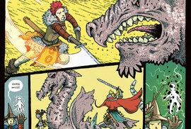 Konverzační komiksová komedie z fantasy prostředí, kde je kouzelnický řád konfrontován s nebezpečnou Magickou koblihou nekonečna.