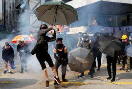 Protesty v Hongkongu (20. 10. 2019)