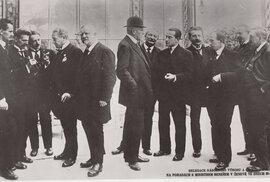 Jednání českých představitelů v Ženevě na konci října 1918.