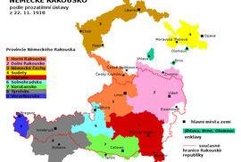 Plánované území Německé Rakouska.