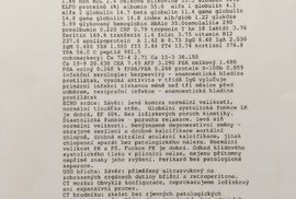 Lékařská zpráva o prezidentovi Miloši Zemanovi - strana 2