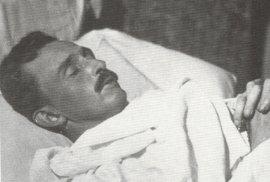 Karel I. na smrtelné posteli.