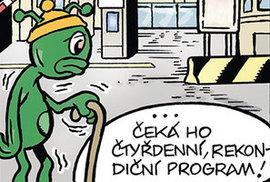 Zelený Raoul nastoupil čtyřdenní rekondiční pobyt v nemocnici