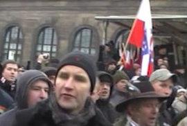 Björn Höcke na neonacistické demonstraci.