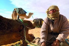 Beduín adromedár: stovky let neměnný způsob cesty přes poušť