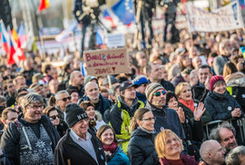 demonstrace na pražské Letné