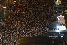 Koncert pro budoucnost na Václavském náměstí ku příležitosti 30. výročí sametové revoluce (17. 11. 2019)