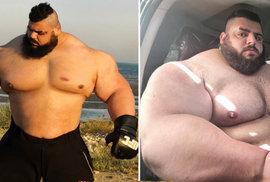 Neuvěřitelný íránský Hulk: Hromotluk na steroidech chtěl bojovat s ISIS a dnes touží…
