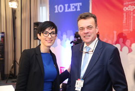 Kandidáti na předsedu TOP 09 Markéta Pekarová Adamová a Tomáš Czernin.