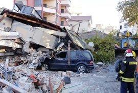 Silné zemětřesení zasáhlo Albánii (26.11.2019)
