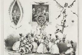 Ukázkka ze sbírky Charges et Décharges Diaboliques z roku 1830