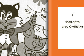 Bohatě ilustrovaná kniha vychází u příležitosti padesátého výročí vydání prvního sešitu komiksového časopisu Čtyřlístek.