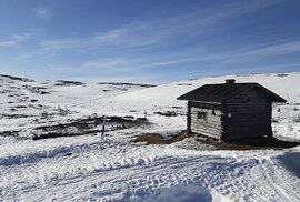 Útulna, v níž Ondřej nocoval při přejezdu národního parku Yllas na běžkách