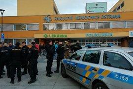 Střelba v Ostravské nemocnici. Zemřeli čtyři lidé, další jsou zranění. Na místě zasahuje policie