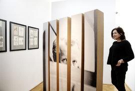 Z výstavy Šlitr Šlitr Šlitr v Galerii Villa Pellé v Praze. Na snímku producentka a ředitelka Vladana Rýdlová.