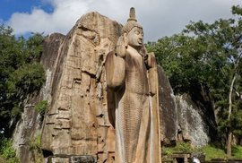 Socha Aukana Buddhy na Šrí Lance