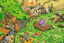 Úchvatně nakreslený komiks Kosmo knedlíci je dobrodružstvím z budoucnosti, která v lecčem připomíná naši současnost.