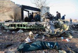 V Íránu se zřítil ukrajinský letoun se 176 lidmi na palubě, nehodu nikdo nepřežil