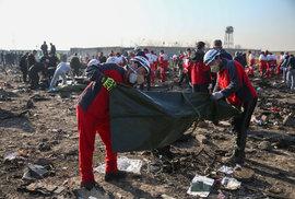 Tragická nehoda letadla v Íránu: Přes 170 mrtvých (8.1.2020)