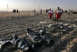 Místo neštěstí v Íránu: Tady dopadlo letadlo ukrajinské společnosti (8.1.2020)