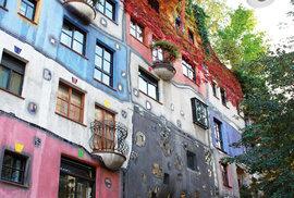 Dům pana Deštivého dne na rohu vídeňských ulic Lowengasse a Kegelgasse