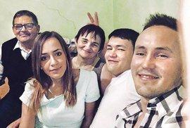 Ján Kuciak se svou rodinou.