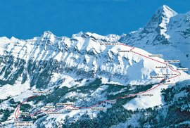 Slavný Lauberhorn prověřuje lyžařské umění závodníků už 90 let, jeho minulost zkalila tragédie