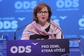 29. kongres ODS: O post 1. místopředsedy strany se utkala i Marie Kubíková, radní pro školství Prahy 6 (18.1.2020)