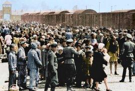 Kolorované dobové záběry z dokumentu Auschwitz Untold