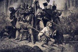 Poláci v boji. Obraz Bitva Artura Grottgera.