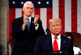 Americký prezident Donald Trump přednáší své poselství o stavu unie
