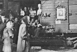 Transport s antifašisty z Oder, 1946