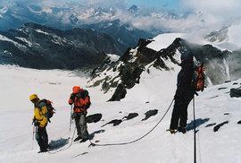 Letní výlet do ledu aneb Cesta ledovcovými pláněmi na vrchol švýcarské hory Allalinhorn