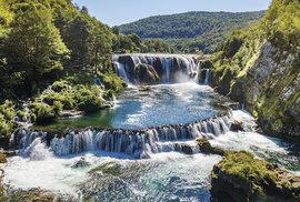 Vodopády na řece Uně