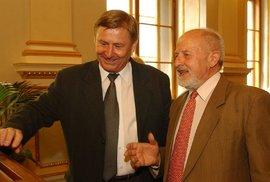 Zdeněk Jičínský s Miroslavem Grebeníčkem.
