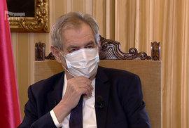 Zeman o koronaviru v Partii na Primě: Roušku si musel opravovat častěji, lezla mu i do očí