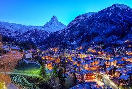 Švýcarské městečko Zermatt