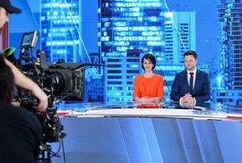 Markéta Dobiášová a Pavel Štrunc ve studiu CNN Prima News