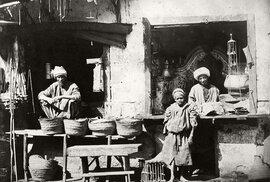 Prodejci rýže a oleje (Káhira, 1860)