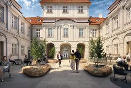 Vizualizace developerského projektu Savarin v Praze 1, který vznikne podle návrhu architektonické kanceláře Heatherwick Studio.