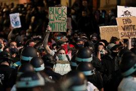 nepokoje vyvolané násilnou smrtí černocha George Floyda pokračují i v New Yorku