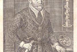 Ján Jesenský, známý také jako Jan z Jesenu, či Jan Jessenius, na dobové rytině.