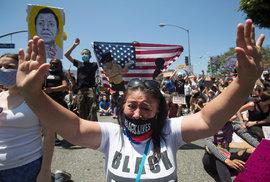 Protest v Los Angeles (ilustrační snímek)