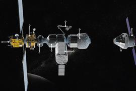 Vesmírná stanice Gateway na oběžné dráze Měsíce