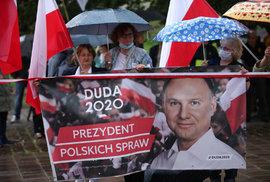 Prezidentské volby v Polsku: Prezident Adrzej Duda obhajuje svůj post.