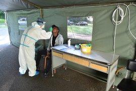 Fotbalisté Karviné během testů na koronavirus