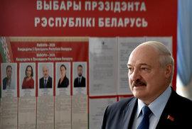 Volby v Bělorusku: Lukašenko u volební urny, (9.08.2020).