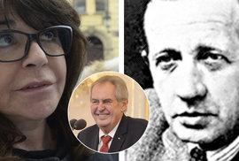 Ministerstvo financí se zatím nemá v plánu omluvit vnučce novináře Ferdinanda Peroutky za výrok prezidenta Miloše Zemana