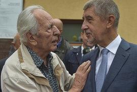 Andrej Babiš a jeho fanoušek na výstavě Země živitelka
